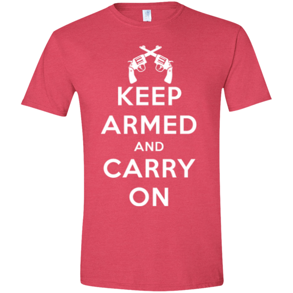 Keep Armed and Carry On Pistols (Fitted) Men's T-Shirt
