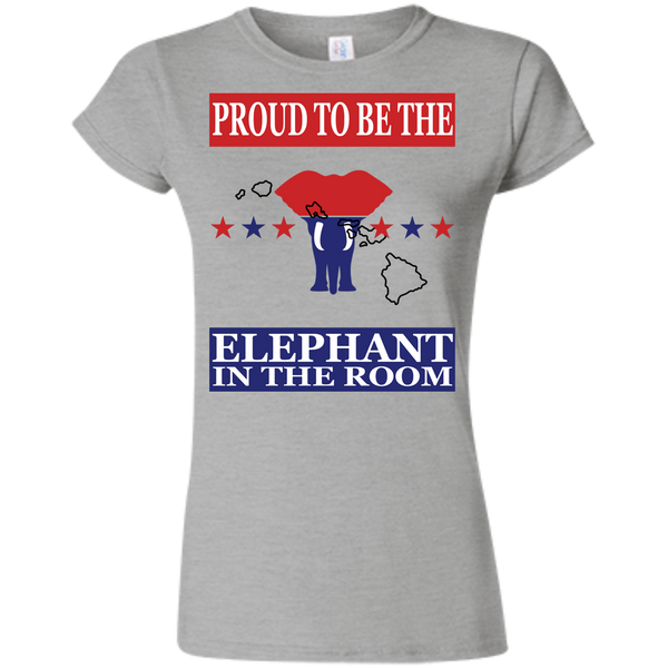 Hawaii PROUD Elephant in the Room (Fitted) Ladies' T-shirt