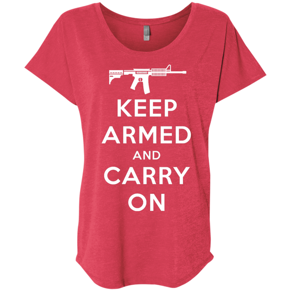 Keep Armed and Carry On AR-15 (Relaxed) Ladies' T-shirt