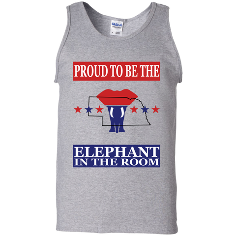 Nebraska PROUD Elephant in the Room Men's Tank