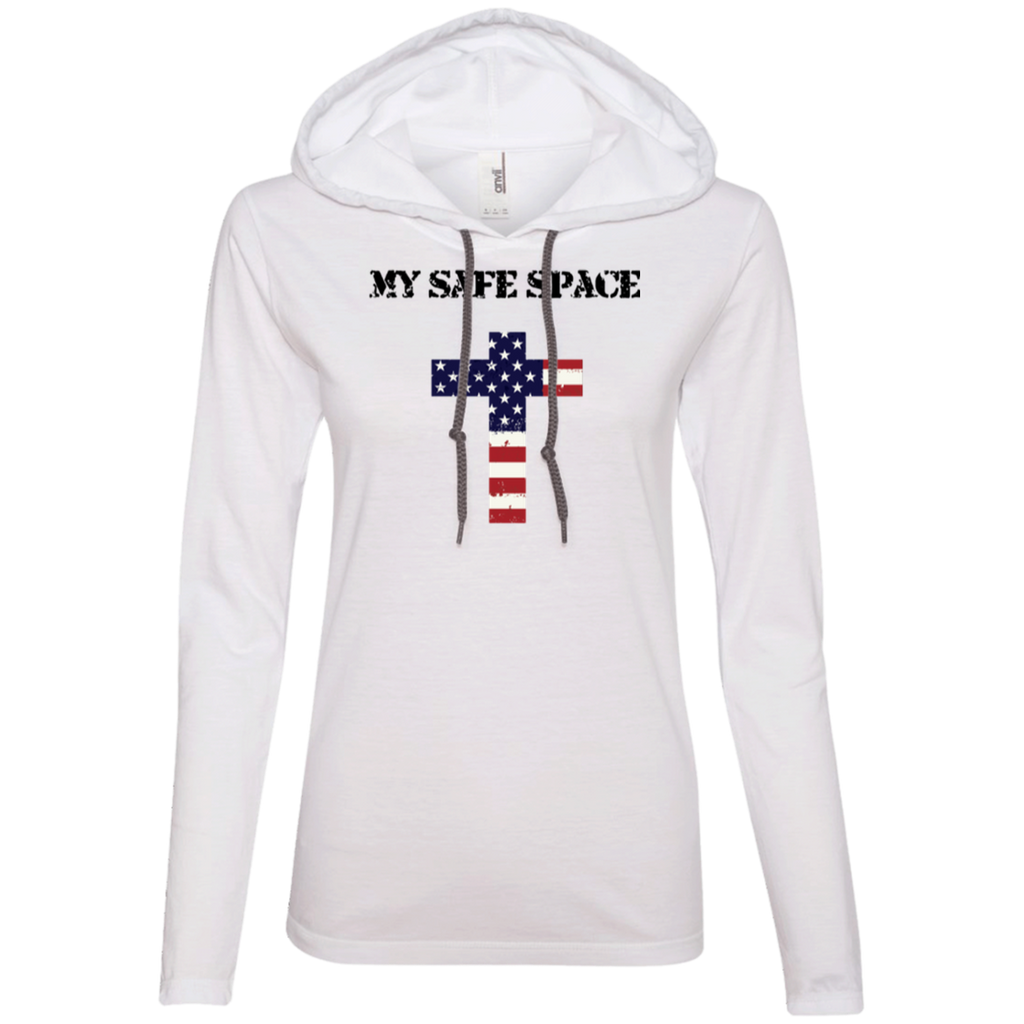 My Safe Space Ladies' T-Shirt Hoodie