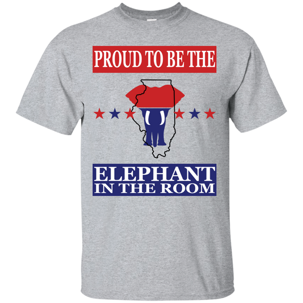 Illinois PROUD Elephant in the Room (Unisex) T-shirt