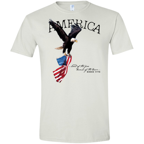 Land of the FREE because of the BRAVE (Fitted) Men's T-shirt