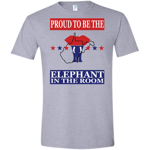 West Virginia PROUD Elephant (Fitted) Men's T-Shirt