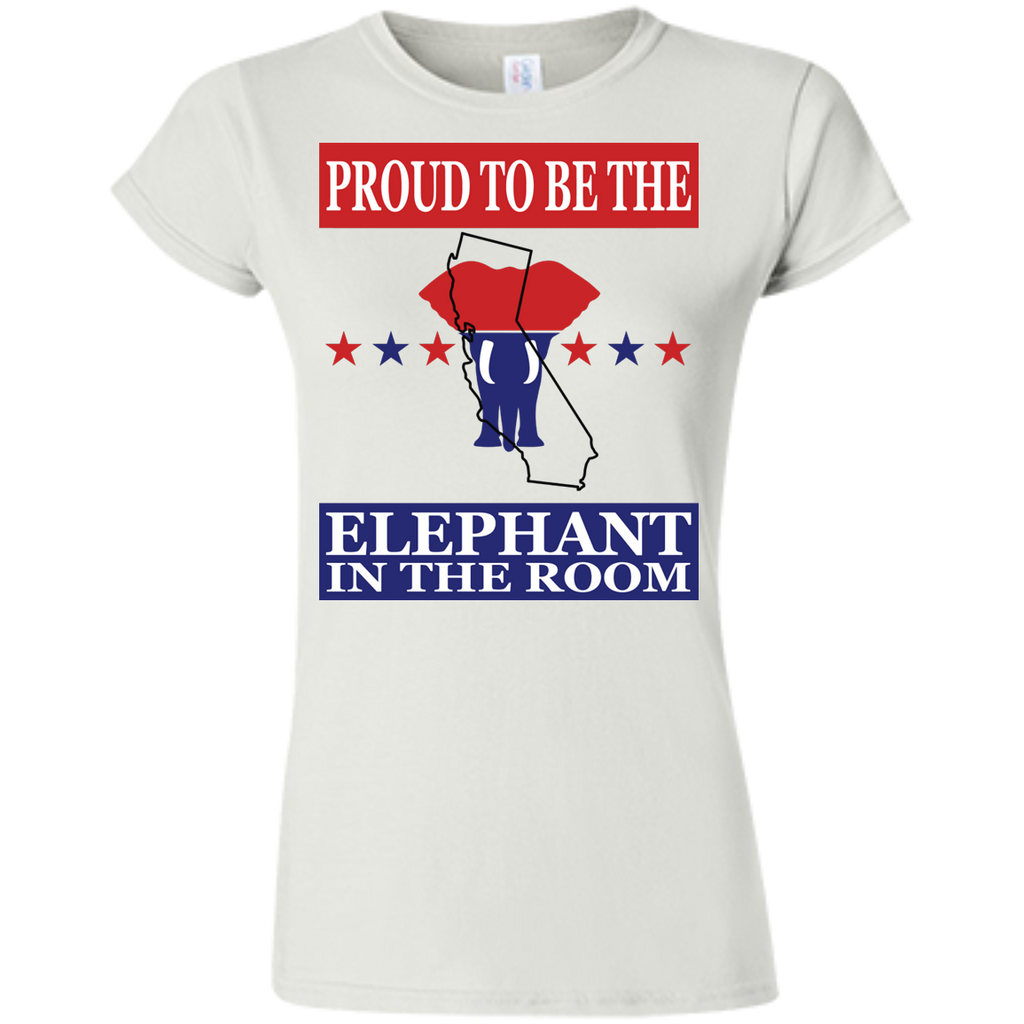 California PROUD Elephant in the Room (Fitted) Ladies' T-shirt
