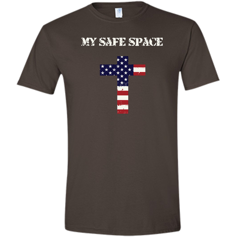 (Fitted) My Safe Space (Cross) Men's T-shirt