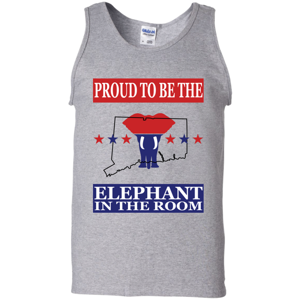 Connecticut PROUD Elephant in the Room Men's Tank