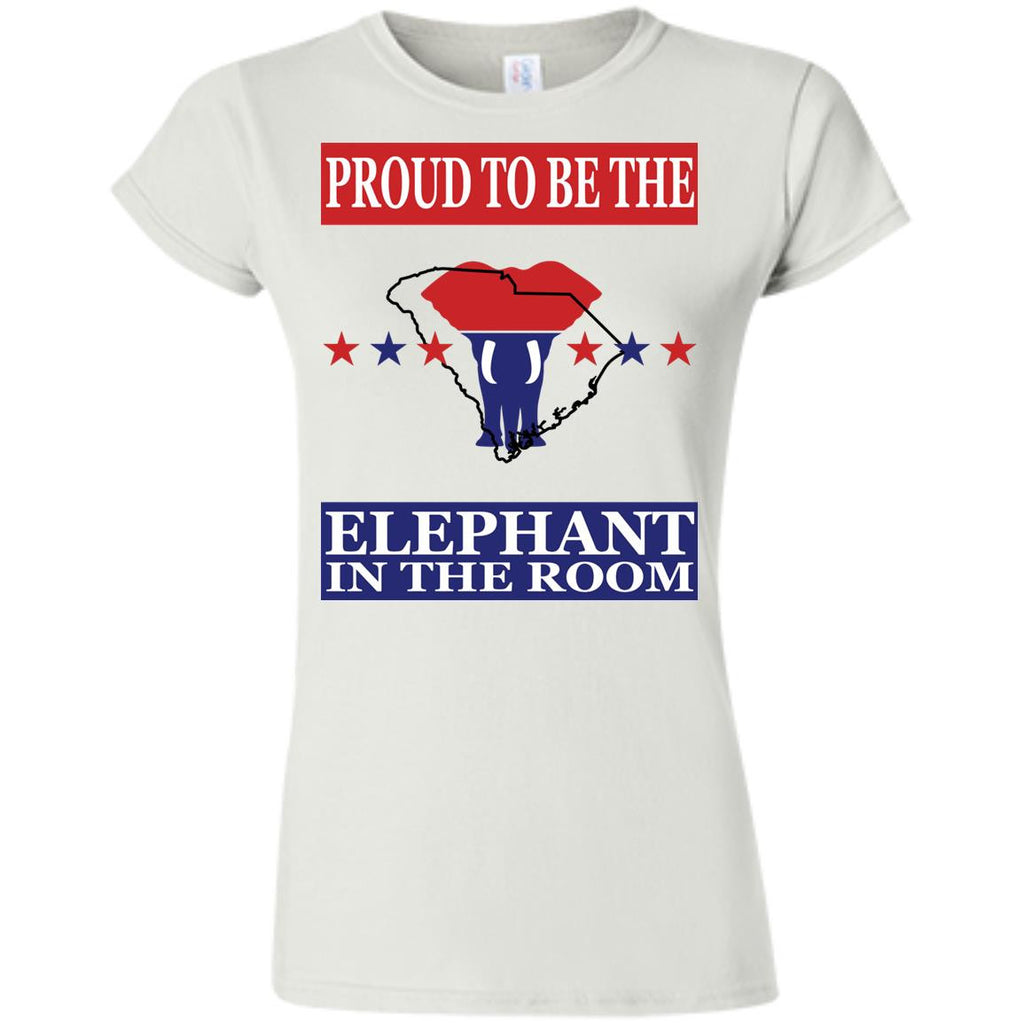 South Carolina PROUD Elephant in the Room (Fitted) Ladies' T-shirt