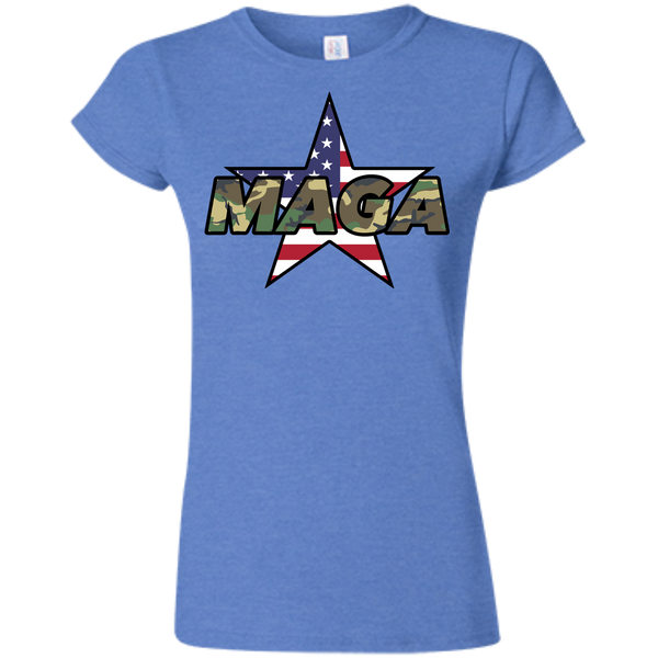 (Fitted) MAGA Camo-Forest Ladies' T-shirt