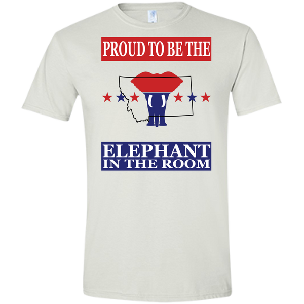 Montana PROUD Elephant in the Room (Fitted) Men's T-shirt