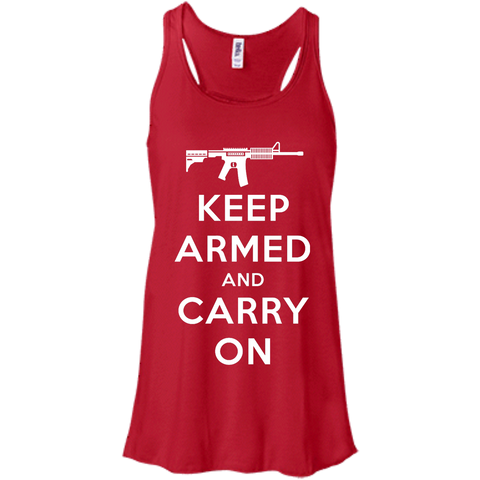 Keep Armed and Carry On AR-15 (Racerback) Ladies' Tank