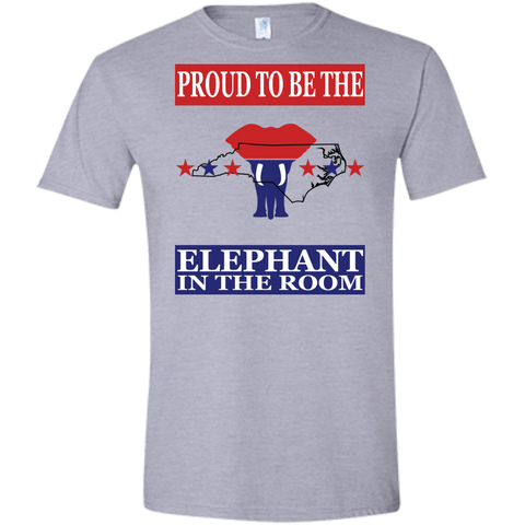 North Carolina PROUD Elephant in the Room (Fitted) Men's T-shirt