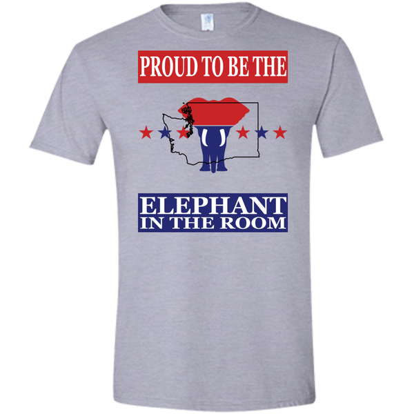 Washington PROUD Elephant in the Room (Fitted) Men's T-shirt