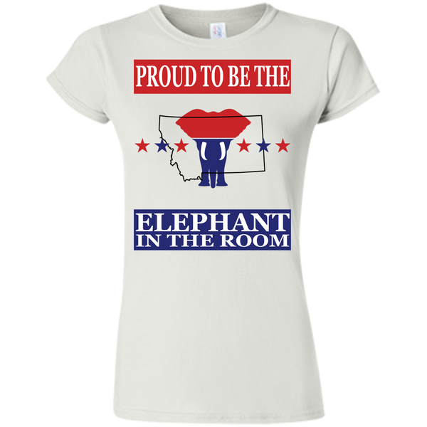 Montana PROUD Elephant in the Room (Fitted) Ladies' T-shirt