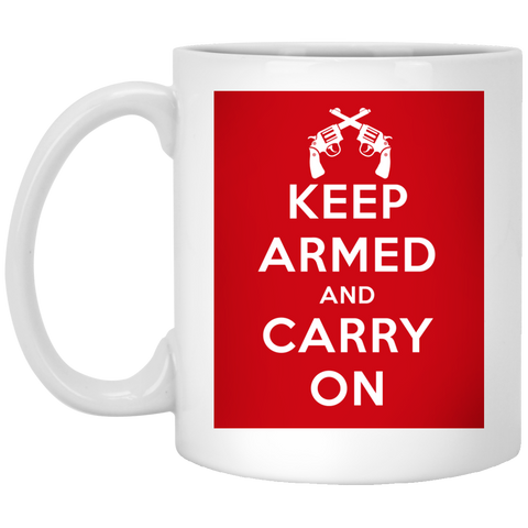 Keep Armed and Carry On Pistols 11 oz. Mug