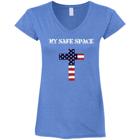 My Safe Space Ladies' V-Neck T-Shirt