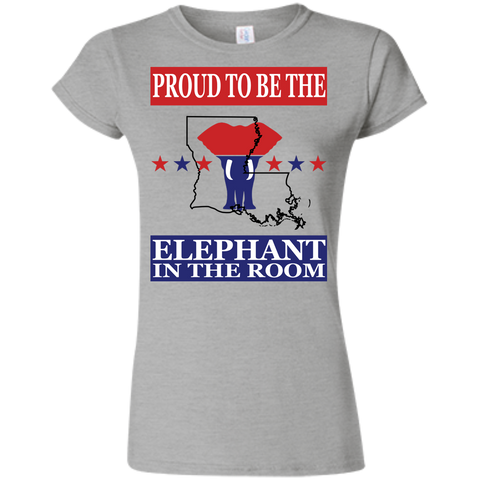 Louisiana PROUD Elephant in the Room (Fitted) Ladies' T-shirt
