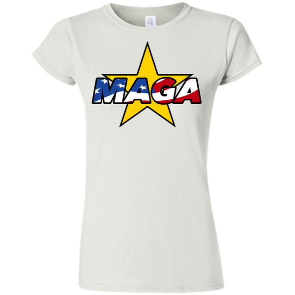 (Fitted) MAGA USA Ladies' T-shirt