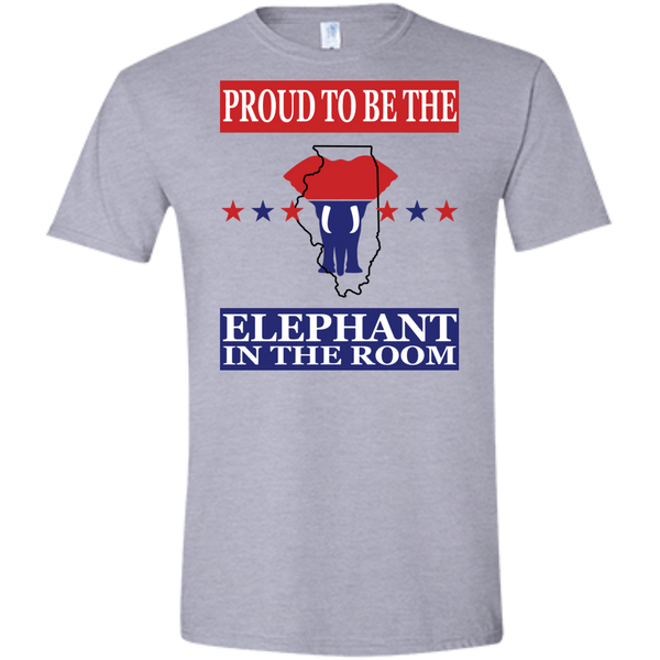 Illinois PROUD Elephant in the Room (Fitted) Men's T-shirt