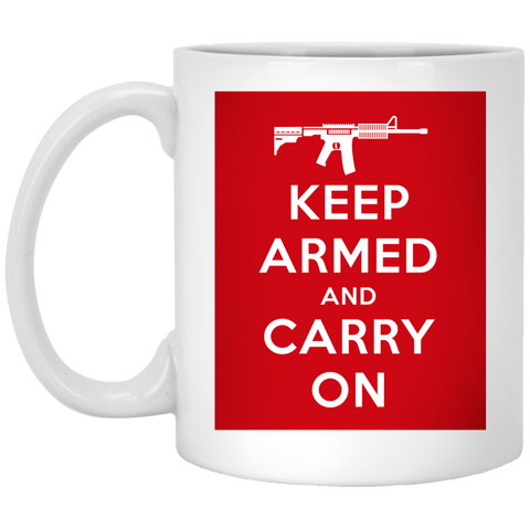 Keep Armed and Carry On AR-15 11 oz. Mug