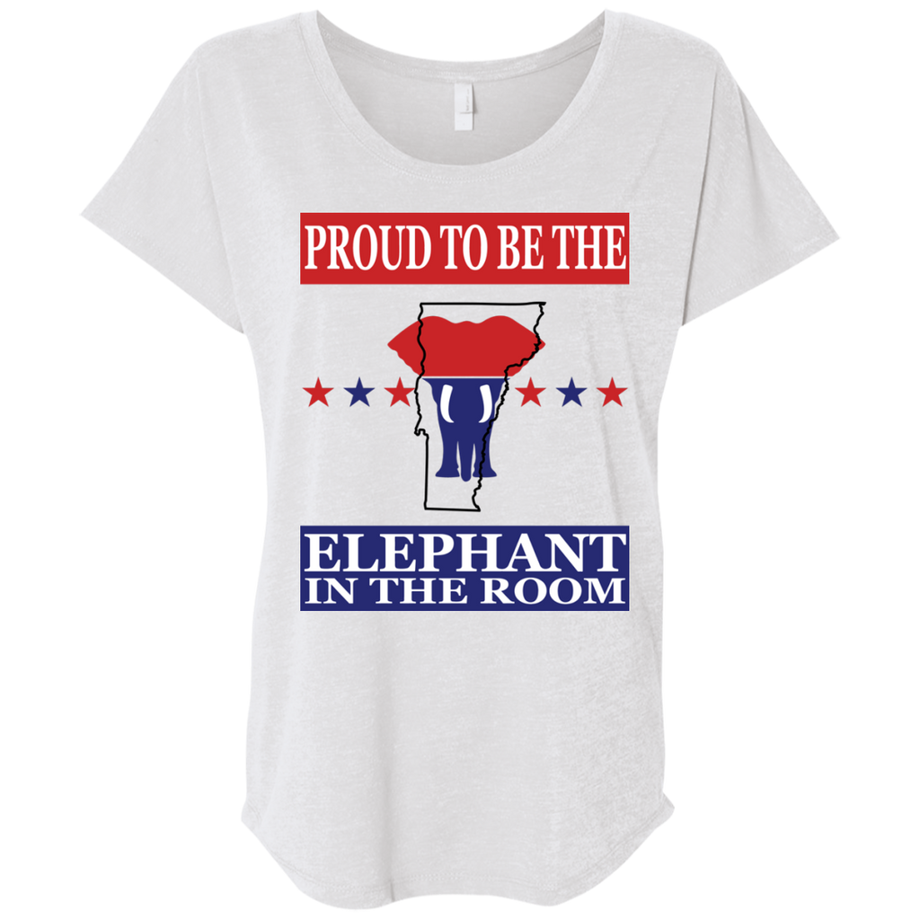 Vermont PROUD Elephant in the Room (Relaxed) Ladies' T-shirt