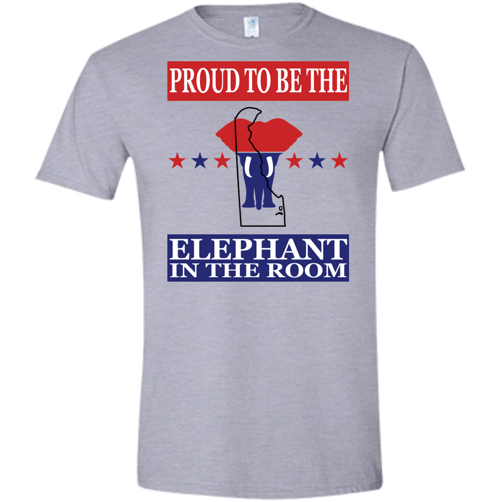 Delaware PROUD Elephant in the Room (Fitted) Men's T-shirt
