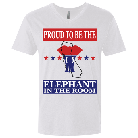 California PROUD Elephant in the Room Men's V-neck T-shirt