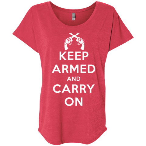 Keep Armed and Carry On Pistols (Relaxed) Ladies' T-shirt