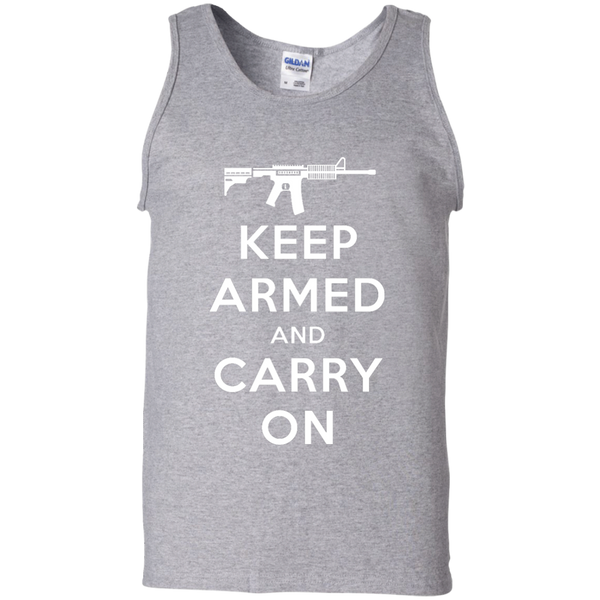 Keep Armed and Carry On AR-15 Men's Tank