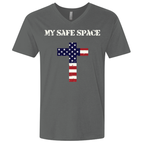 My Safe Space Men's (Fitted) V-Neck T-shirt