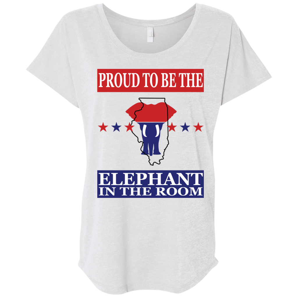 Illinois PROUD Elephant in the Room (Relaxed) Ladies' T-shirt