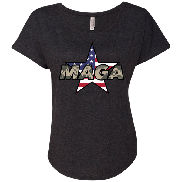 (Relaxed) MAGA Camo-Desert Ladies T-shirt