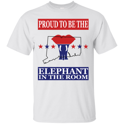 Connecticut PROUD Elephant in the Room (Unisex) T-shirt