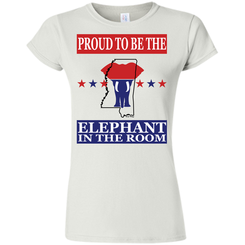 Mississippi PROUD Elephant in the Room (Fitted) Ladies' T-shirt