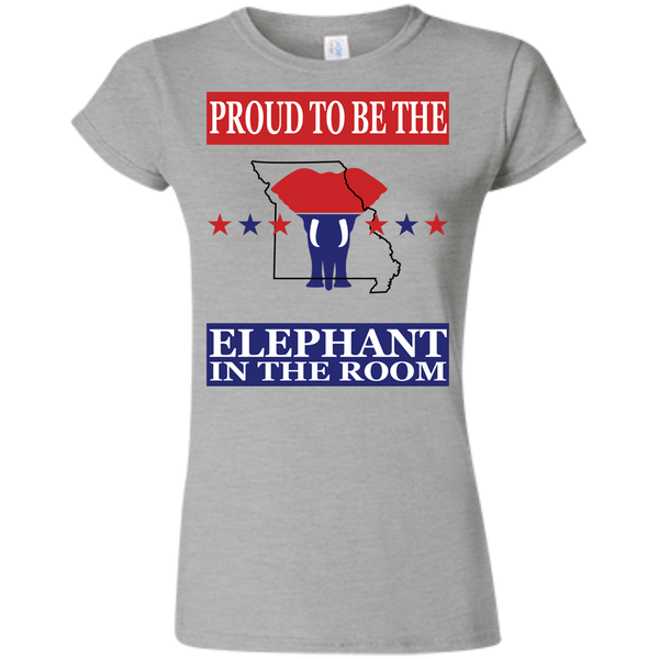 Missouri PROUD Elephant in the Room (Fitted) Ladies' T-shirt