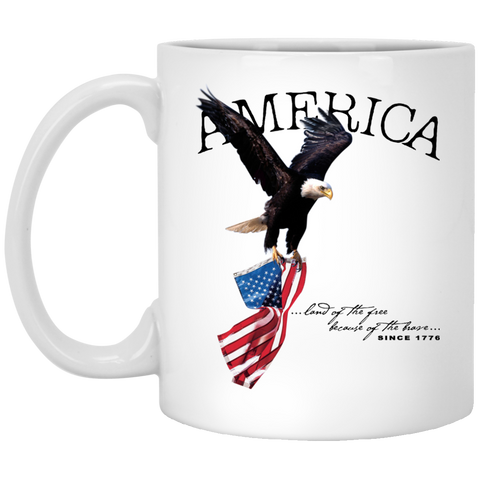 Land of the FREE because of the BRAVE 11 oz. Mug