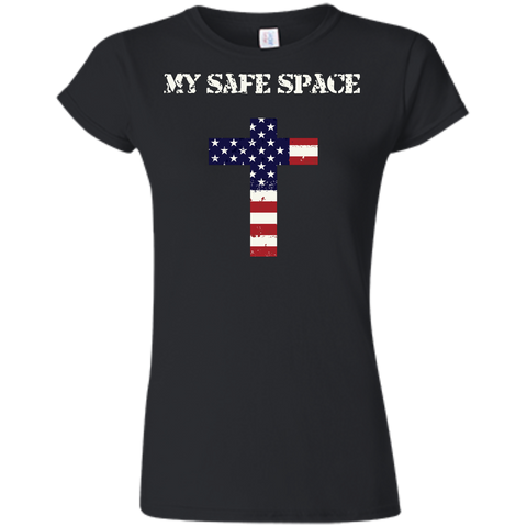 (Fitted) My Safe Space (Cross) Ladies' T-shirt