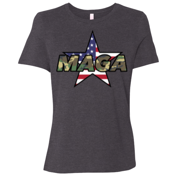 MAGA Camo-Forest (Relaxed) Ladies' T-Shirt