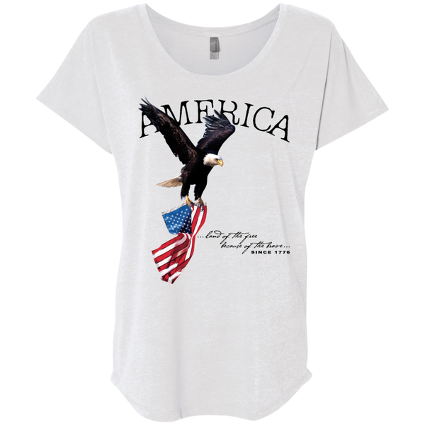 Land of the FREE because of the BRAVE (Relaxed) Ladies' T-shirt