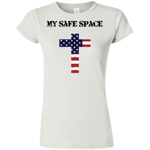 (Fitted) My Safe Space (Cross) Ladies' Tshirt