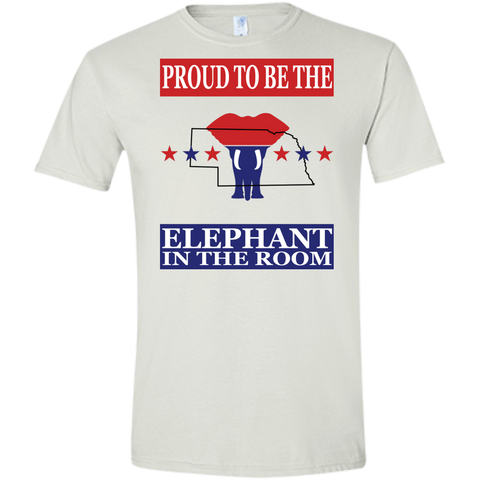 Nebraska PROUD Elephant in the Room (Fitted) Men's T-shirt