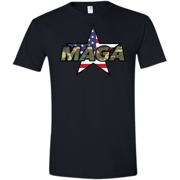 (Fitted) MAGA Camo-Forest Men's T-shirt