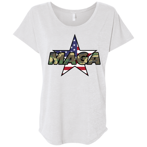 (Relaxed) MAGA Camo-Forest Ladies' T-shirt