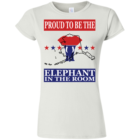 Alaska PROUD Elephant in the Room (Fitted) Ladies' T-shirt