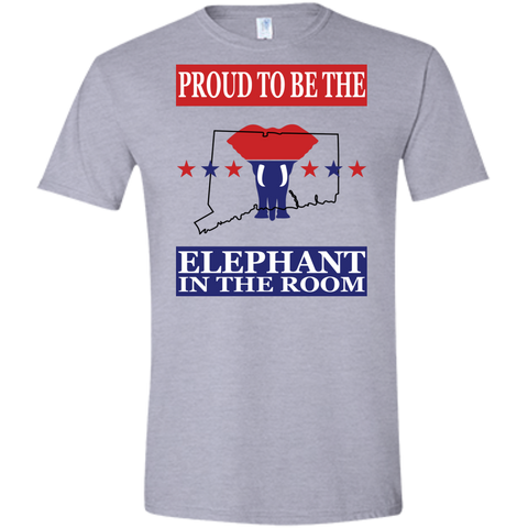 Connecticut PROUD Elephant in the Room (Fitted) Men's T-shirt