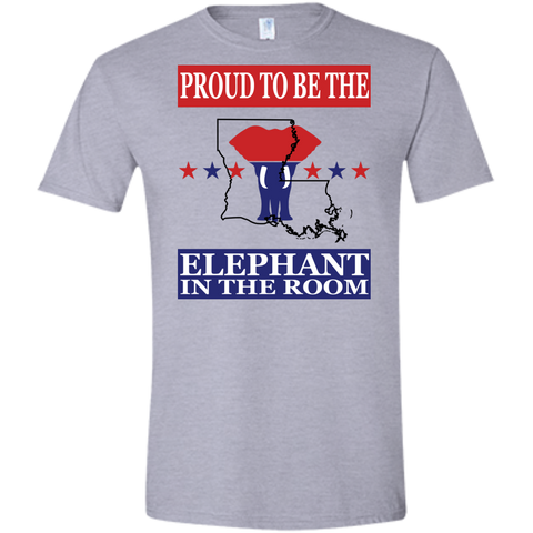 Louisiana PROUD Elephant in the Room (Fitted) Men's T-shirt