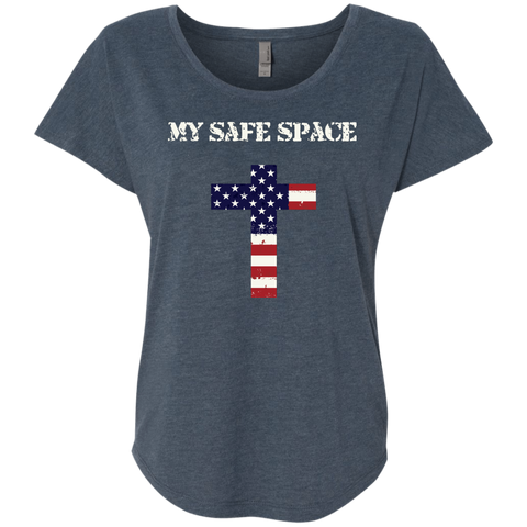 (Relaxed) My Safe Space (Cross) Ladies' T-shirt