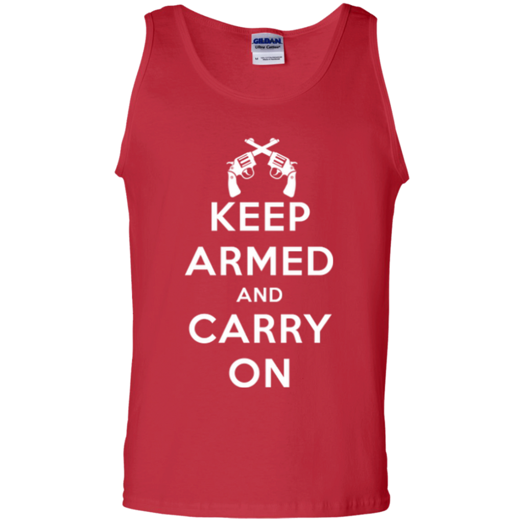 Keep Armed and Carry On Pistols Men's Tank