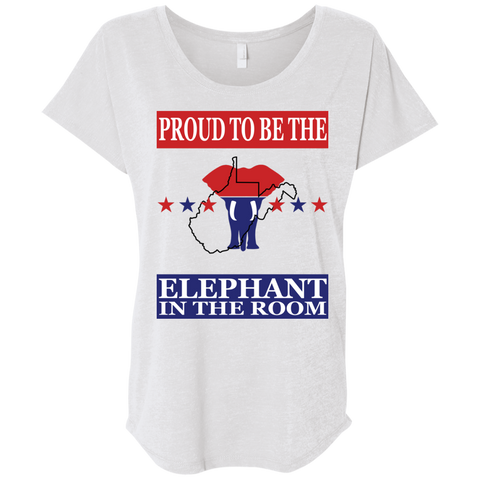 West Virginia PROUD Elephant in the Room (Relaxed) Ladies' T-shirt