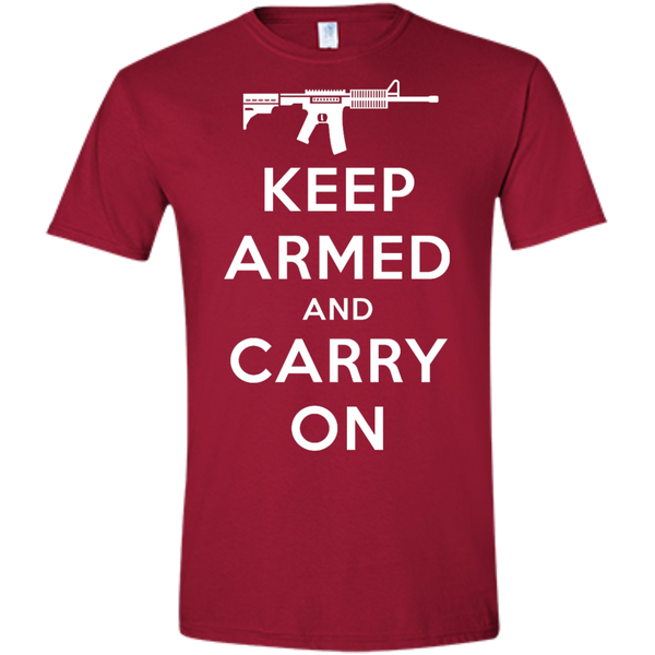 Keep Armed and Carry On AR-15 (Fitted) Men's T-shirt